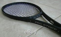 WILSON PRO STAFF RF97 v11.0 Autograph Federer Tennis Racquet/Racket 4 3/8 BLACK
