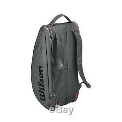 WILSON Roger Federer DNA 12 pack tennis racket racquet bag Black Auth Dealer
