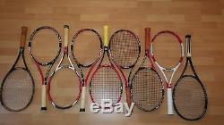 WILSON Schläger Konvolut PRO STAFF Blade Tour Six One 95 Roger Federer 9 Stück