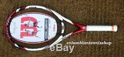 Wilson BLX Five Lite 103 MP Triad Tennis Racket 4 0/8 red/white/charcoal last 1s