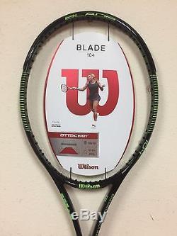 Wilson Blade 104 Tennis Racquet 18 x 19 Grip 4 1/4