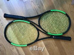 Wilson Blade 98 16x19 Countervail CV 4 3/8 Good Condition Two Tennis Racquets