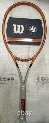 Wilson Blade 98 16x19 v7 Roland Garros Tennis Racquet 4 3/8 Racket LTD. EDITION