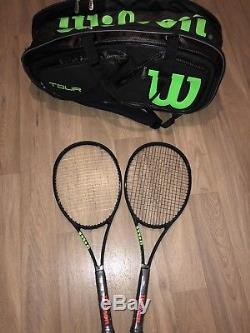Wilson Blade 98 CV Series Noir Collection Tennis Rackets And Matching Bag