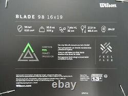 Wilson Blade 98 v7 16x19 Tennis Racquet Unstrung Grip Size 4 3/8 NEW