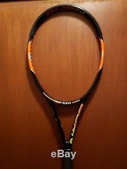 Wilson Burn 100 paint job Steam 99 Pro Stock racquet of Top 100 player