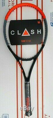 Wilson CLASH 100 TOUR Tennis Racquet 4 1/4 L2 Racket 16x19 2019 FREE PRIORITY