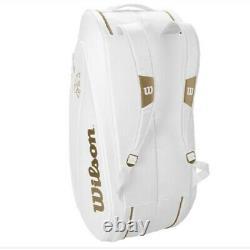 Wilson Federer Backpack Tennis Racket Bag DNA 12 Pack Infrared WR8004401001 WH