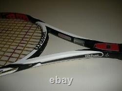 Wilson K-factor Six. One Tour 90 Tennis Racquet 4 1/2 (new 4g Strings) Federer