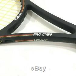 Wilson Pro Staff 6.0 Midsize 85 Tennis Racquet 4 3/8 St. Vincent Bumperless JZQ