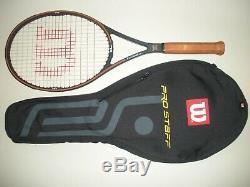 Wilson Pro Staff 6.0 Original Midplus 95 Tennis Racquet 4 3/8 (new Strings)
