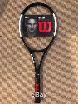 Wilson Pro Staff 97 RF Autograph Black and White Tennis Racket NEW 4 3/8