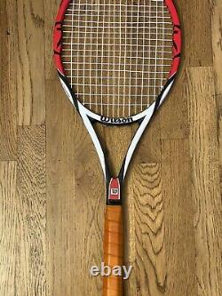Wilson Pro Staff K Factor Six. One Tour 90 tennis racquet grip 4 1/2 Used Once