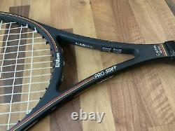 Wilson Pro Staff Midsize Racquet- L5 4 4/8-Leather Fairway grip- St. Vincent KUQ