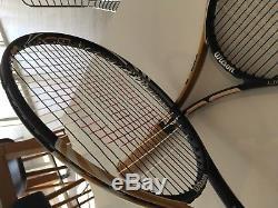 Wilson Pro Stock H 19 Tennis Rackets Pair