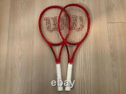 Wilson ProStaff RF97 Autograph Limited Edition Red -Pair (2x) -(Size L2= 4 1/4)