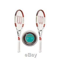 Wilson Six One 95L 18-20 x 2 + 200 m-Rolle L3 = 4 3/8 Tennis Racquet
