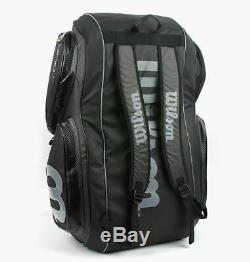 Wilson Tour V 15 Pack Tennis Bag Backpack Black Racquet Racket Bag WRZ844615