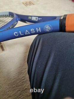 Wilson clash 100 ltd tour roland garros tennis racquet