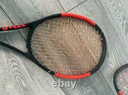 Wilson pro staff 97 pair of used rackets. One racket needs restring. Regripped