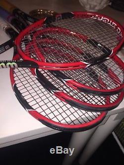 Wilson tennis racquet pro staff rf97 4 3/8 grip (lot of 3 bundle)